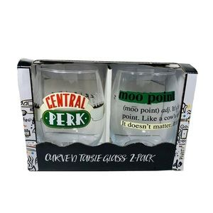 BRAND NEW Friends Tv Show Inspired Glass Set of 2